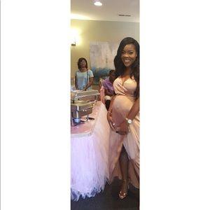 Dresses & Skirts - Beautiful satin wrap dress